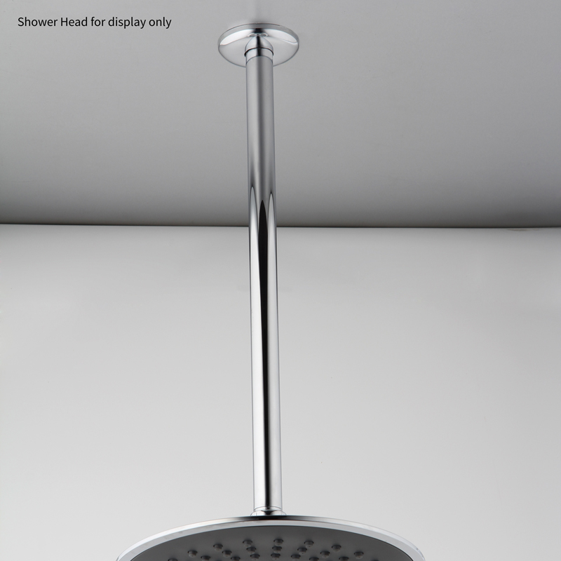 Ceiling Fixed Shower Arm Shown With Head
