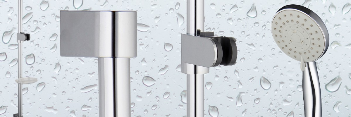 5 settings in this complete shower Riser kit