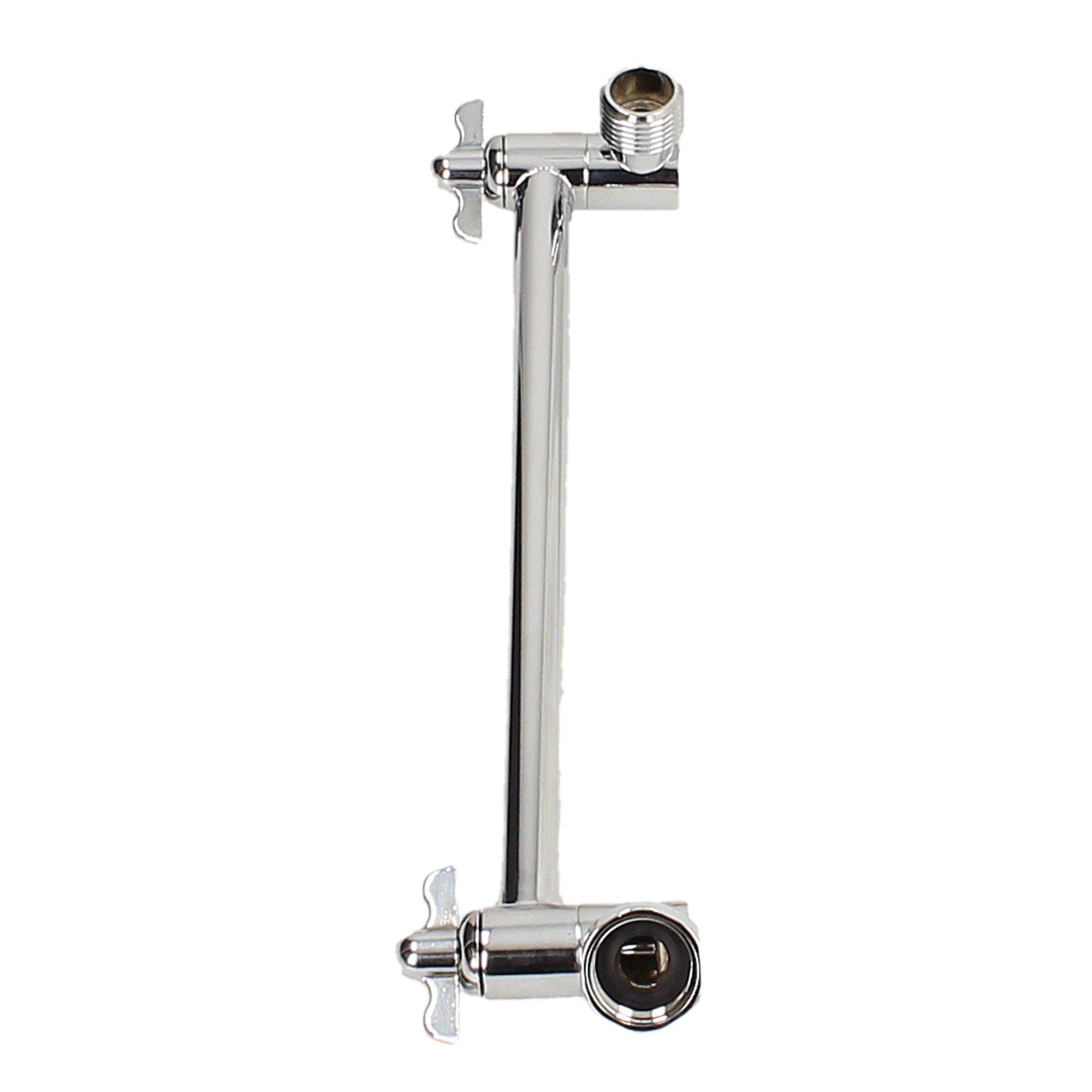Telescoping Shower Arm : Axis adjustable shower arm heads and hoses